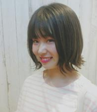 楽チンおしゃれな外はねボブ*゜ ALLURE HAIR〜elfi〜所属・間嶋紗由美のスタイル