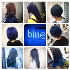 ブルーカラー♡ シェリー原宿をお借りしてます。所属・フリーランス美容師SHINYAのスタイル