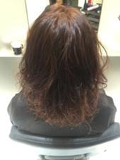 オレンジ味で柔らかく仕上げました。 TONI&GUY所属・宮川健太郎のスタイル