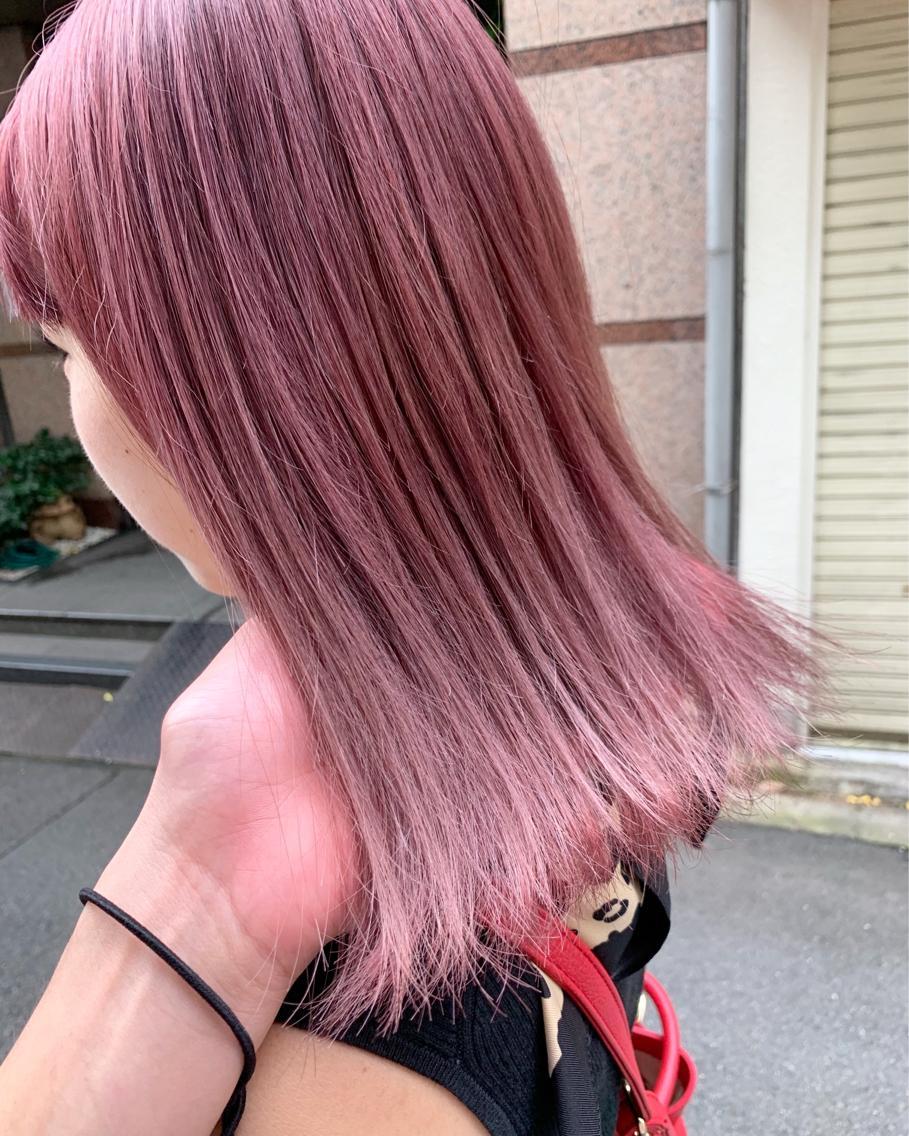 #ミディアム #カラー pink lavender ash✨