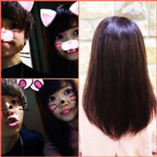 ☆Aujuaトリートメント☆ 海にいったダメージともともとのくせがあり広がりがちな髪質でしたが トリートメントをすることで ツヤとまとまりを出すことができます(´꒳`*) 扱いが難しいAujuaですが数種類の神配合によって、お客様ひとりひとりに合わせてなりたい髪質を提供できます(´꒳`*) 施術後はあぜげとぱしゃり☆ Hair&MakeZEST吉祥寺店所属・ZESTあぜげのフォト