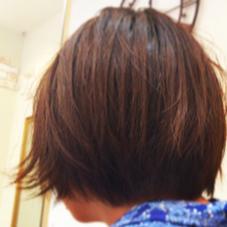 ショートヘア 外ハネの気分です パザパミニヨン所属・金子アキカズのスタイル