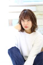 ナチュラルパーマ☆ シースルーバングで軽いふんわりスタイル Neolive Luca所属・金子萌子のスタイル
