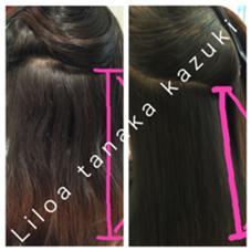 自然で柔らかい縮毛矯正  Liloa田中一輝 仕上げにブローやアイロンは一切なし  検索→田中一輝縮毛矯正 縮毛矯正髪質改善プロまずブログ見て下さいのスタイル
