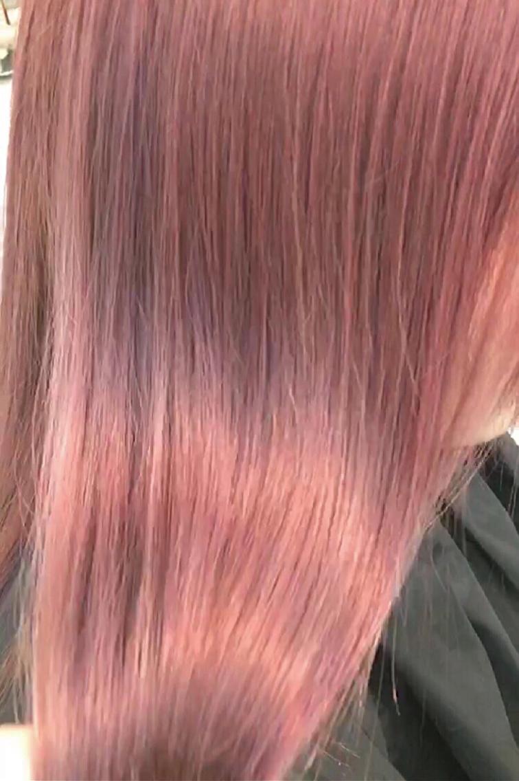 #セミロング #カラー #ヘアアレンジ pink ash