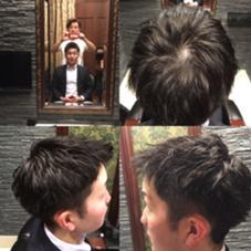 前髪は下げないスタイルにしました! 夏向けの髪形です! ヒロ銀座 銀座一丁目店所属・坂場渉武のスタイル