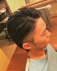 ハード系メンズ ツーブロックスタイル スッキリ LeLe hairみさきのスタイル