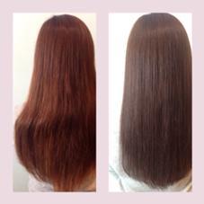 *AVEDAカラー×アンジュリングカラー 97%自然界由来のAVEDAカラーとカラー後髪に残るダメージ成分を完全除去できつやつやになるアンジュリングカラー。 IBAKIのスタイル