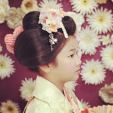 七五三 舞妓さん風日本髪 Hair&Make   JUNO  (ヘアメイク ジュノ)所属・小島早苗のスタイル