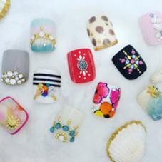 フット親指2本アートコース mana  nail design所属・Mana nailDesignのフォト