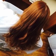 ピンクブラウンのカラーリング  トリートメントでツヤツヤです((*´∀`*)) HairWork's r.Pixy所属・山田優華のスタイル