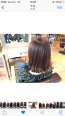 ばっさり12.3cm切りっぱなし✂️ 秋カラー _ cut+color...¥4400~ color+Treatment...¥5400~  熊谷美咲のスタイル