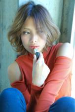 ミディアムは重くなりすぎないようなスライドカットがオススメ! ルアール渋谷所属・ルアールタケのスタイル