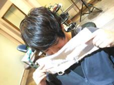 【men's color】 ブラックブラウン ▶︎ブリーチ一回  ブリーチして落ちたらブラウンになるブラックcolor! セットは丸みと束感を。 小川久美子のスタイル