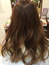 ブリーチ毛にシルバーピンクを♡  ふんわりみせたい方にオススメ! Hair studio olive 駒川店所属・久徳美由紀のスタイル