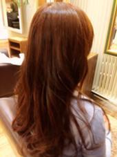 9Lvのピンクブラウン  32mmのコテで、平巻きに仕上げています‼︎ CAPA hair design所属・小川優希のスタイル