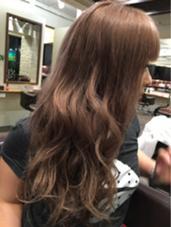 アプリコットベージュカラー Hair Salon Lapis所属・手塚有観のスタイル
