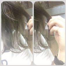 グレージュカラー☻☻ Hair room CHARI所属・松尾彩のスタイル