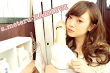 ラフなパーマに耳かけが女子力UPのコツ♪ a.meteru-KAMIYUI所属・山田睦のスタイル