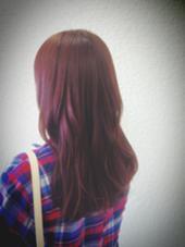 赤系のカラーで艶っぽく。 KENJE平塚ラスカ所属・膳佑輔のスタイル