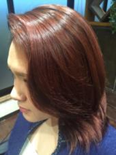 レッドパープルで遊んでみよう Hair Design CULTURE所属・一ノ瀬智也のスタイル