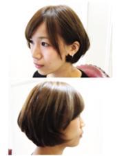 頭の形がよく見えるボブスタイル✂︎ 絶壁がコンプレックスの方には是非‼️おススメです(^^) 松本平太郎美容室    青山店所属・鈴木知佳のスタイル