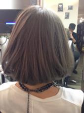 ショートボブ&グレージュ Hair Grande Seeek所属・MatsubaraYasuyukiのスタイル