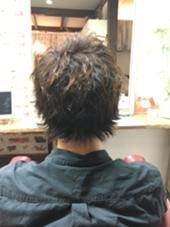 メンズパーマ/ツイスト/スパイラル/mix asile所属・見城彩のスタイル
