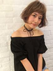 ワンカールボブ☆グレージュカラー CortebyLittle所属・佐藤真由奈のスタイル
