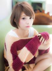 ショートボブ×スモーキーグレー☆ COIFF1RST原宿所属・COIFF1RST原宿のスタイル