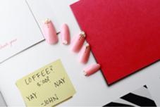 ピンクオパール 10本アート定額コース ¥8400 mary nail&eyelash所属・橋本隆子のフォト