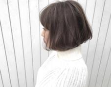 フレンチボブ✖️ハイライトブルージュ✨  大好評✨〉似合わせカット+外国人風カラー+3stepトリートメント  宮崎直哉のスタイル
