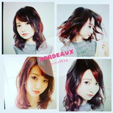 ポイントカラーレッド  3Dカラー   hair&make Lee尼崎所属・田中 優輝Lee尼崎店のスタイル