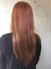 黄色かった髪色をピンクオレンジへ♫ ABBEY2所属・saekoiizukaのスタイル