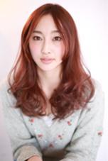 ツヤツヤの毛先をヘアカラーで! ピンク/カッパー HamaJunのスタイル