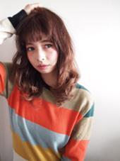 ラフな質感のパーマで外国人風ミディアムスタイル☆ Trois epis所属・鈴川拓郎のスタイル
