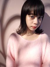 黒髪でも可愛い外ハネボブ★ miel hair&spa所属・飯田さきのスタイル