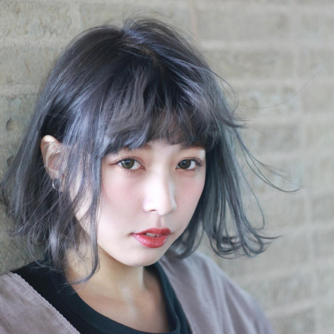 #ショート 透明感カラー☆ラベンダーアッシュ