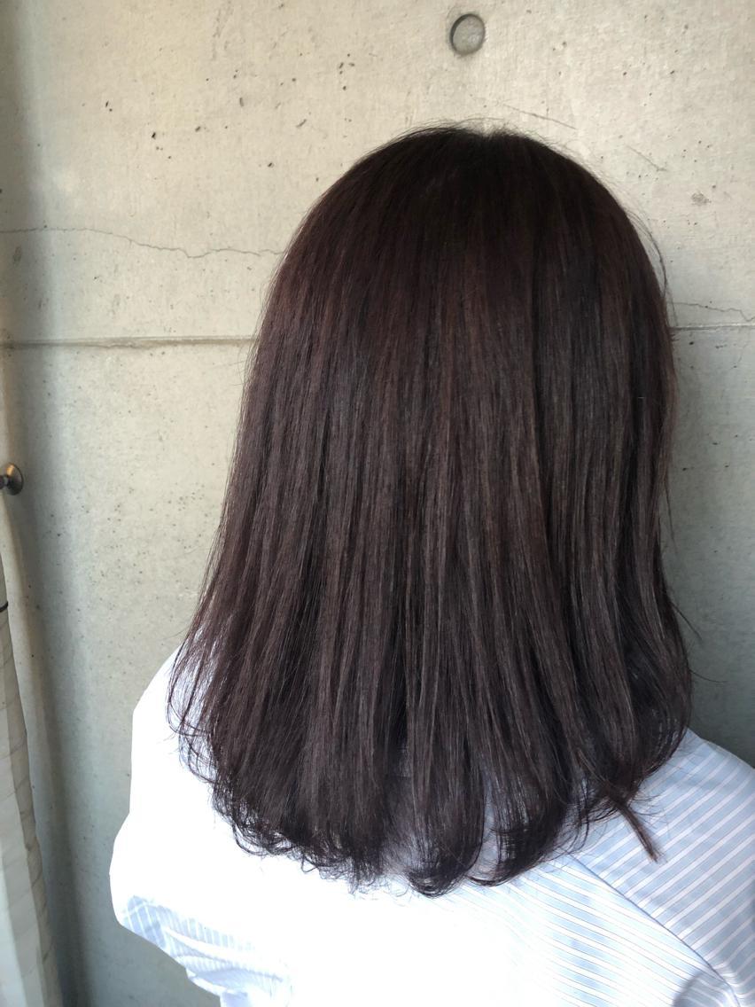 #ミディアム #カラー lavender 💜 ×  navy💙 《 ラベンダー  ×  ネイビー 》