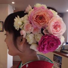 生花を盛り込んだセット TAU所属・米山昌克のスタイル