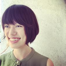 おクセを生かした前下がりボブ(^^)  PESCO PESCA所属・篠田智香子のスタイル