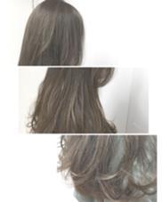 ハイライト✨をベースにいれて 硬い髪質も 柔らかく透け感のある カラーリングに  Lmano所属・福本あゆみのスタイル