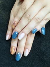 べっ甲×ブルー×パール♡ 実物はもっとパール感強めのキラキラです(*^^*)♡ hair&make ZEST 立川南口店所属・サトヨシカナデのスタイル