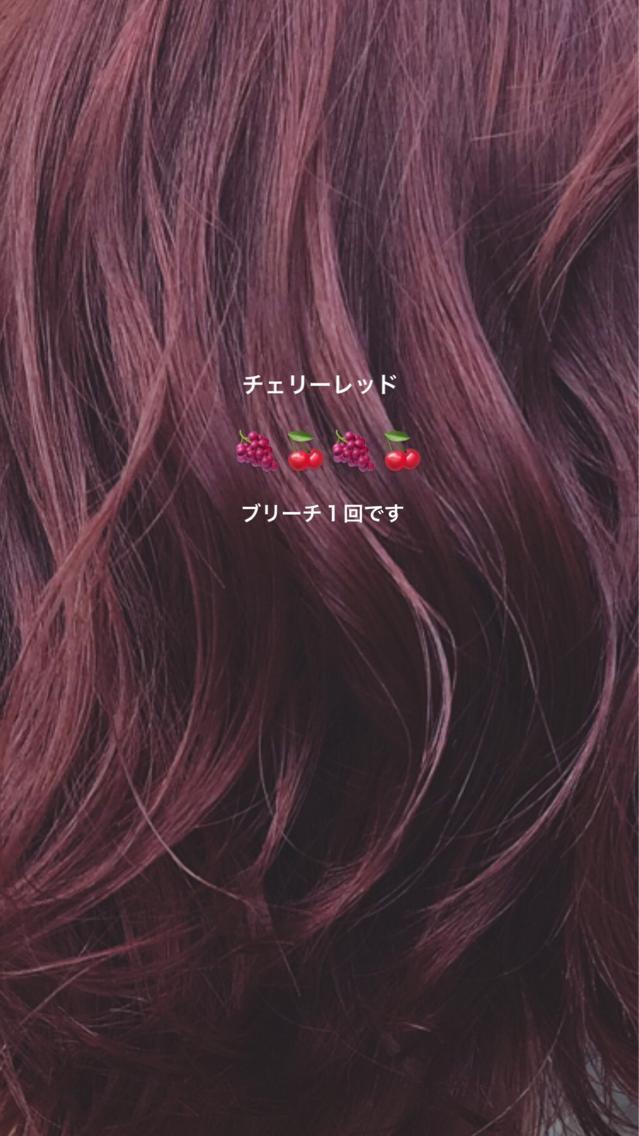#カラー 赤系カラーにとことんこだわります❤︎ 赤系は、ツヤが出やすく、色が定着しやすいので、重ねれば重ねるほど色落ちしづらくなります❤︎ 一人一人にあわせた彩度、色味にこだわり、服選びに困らない赤髪にします❤︎