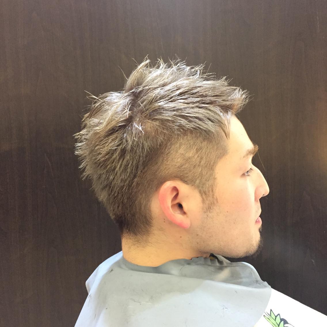 メンズ 刈り上げ ソフトモヒカン 短髪