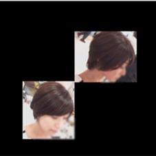 大人めショート hair&make  j-genic所属・沼本舞桜のスタイル