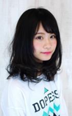 ラフなイメージのミディアムボブです リジェール黒川店所属・柴垣ようしんのスタイル