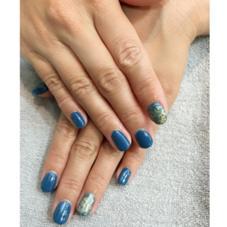 ホイルで作った地球みたいなカラーがオシャレ☆ 夏っぽいブルーがダントツ人気!!! hair&make ZEST 立川南口店所属・サトヨシカナデのスタイル