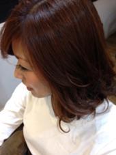 秋色のピンクゴールド♡コテ巻き仕上げ♫ hair gloss所属・熊澤愛のスタイル