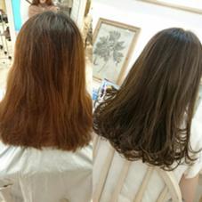 アッシュ系スペシャルカラー スペシャルハイライトはいってます。 AUBE hair shine所属・藤原末唯のスタイル